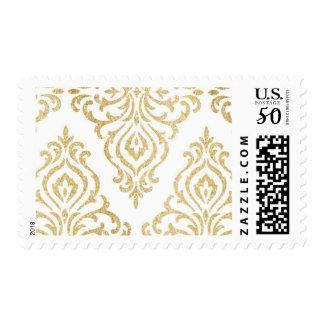 Gold Glitter Vintage Glamour Elegant Postage 3