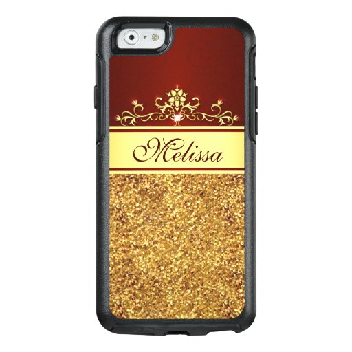 Gold Glitter Vintage Red OtterBox iPhone 6/6s Case