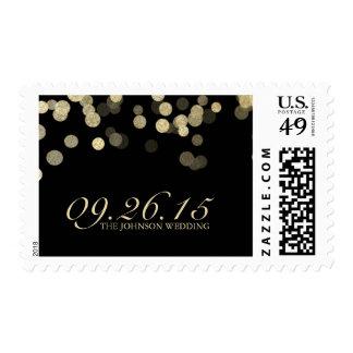 Gold Glitter Wedding Stamp