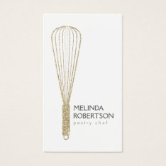 Gold Glitter Whisk Bakery Business Card at Zazzle