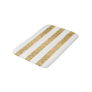 Elegant Gold Glitter Bath Mats Rugs Zazzle