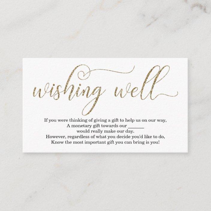 Gold Glitter Wishing Well For Wedding