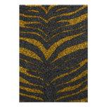 Gold Glitter Zebra Stripes Personalized Announcements