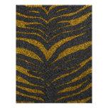 Gold Glitter Zebra Stripes Letterhead Template