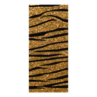 Gold glitter zebra stripes rack card template