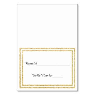 Gold Glittered Trim - Escort Card