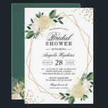 "Gold Glitters Greenery Floral Bridal Shower Brunch Invitation<br><div class=""desc"">Geometric Themed Invitations have become more and more popular. Celebrate the bride-to-be with this &quot;Gold Glitters Greenery Floral Bridal Shower Geometric Invitation&quot; to match her style and have a modern look. This high-quality design is easy to customize to be uniquely yours! (1) For further customization, please click the &quot;customize further&quot;...</div>"