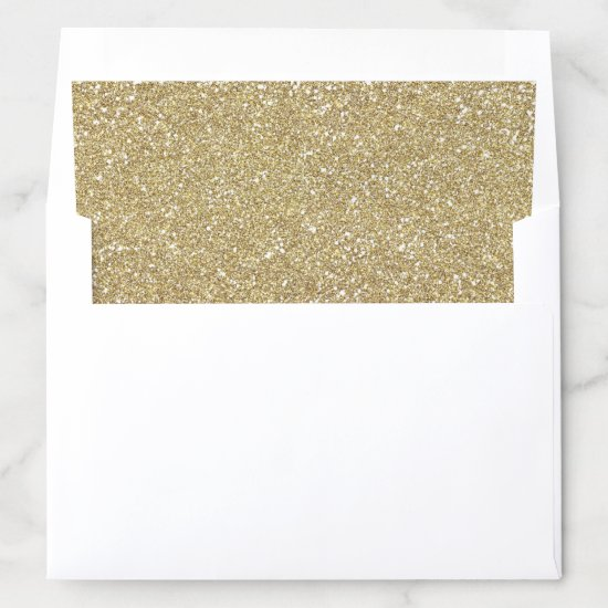 Gold Glitters Sparkle Most Popular Envelope Liner