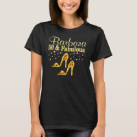 GOLD GLITTERY 50 AND FABULOUS SHOE QUEEN T-Shirt