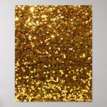 Gold Glittery Diamonds Pattern Print Design