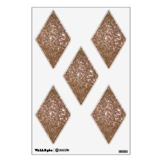 Gold Glittery Look Diamond: Wall Decals