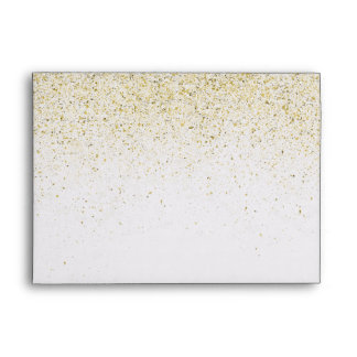 Gold Glittery Sparkles Envelope