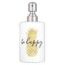 Gold Glitz Pineapple Bathroom Set