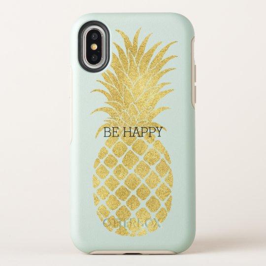 new arrival 3c436 6e714 Gold Glitz Pineapple OtterBox iPhone Case