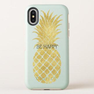 Gold Glitz Pineapple OtterBox Symmetry iPhone X Case