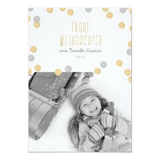 Gold Glitzern Foto Weihnachtskarte Card