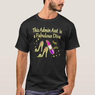 GOLD GLITZY ADMIN ASSISTANT DIVA DESIGN T-Shirt