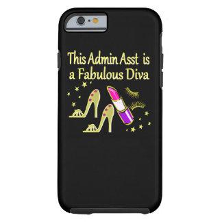 GOLD GLITZY ADMIN ASSISTANT DIVA DESIGN TOUGH iPhone 6 CASE