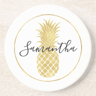 Gold Glitzy Pineapple Coaster