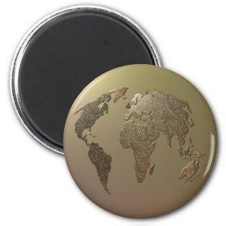 Gold Globe Magnet