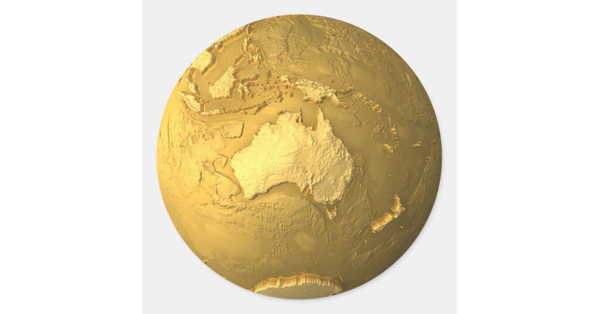 Gold Globe - Metal Earth, Australia, 3d Render Classic ...