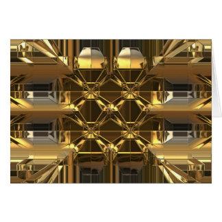 Gold glossy design card