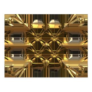 Gold glossy design postcard