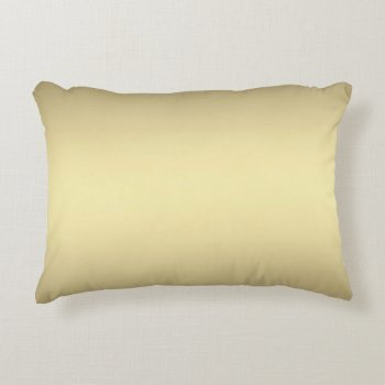 Gold Glow Decorative Pillow