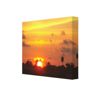 Gold glow sunset gallery wrap canvas