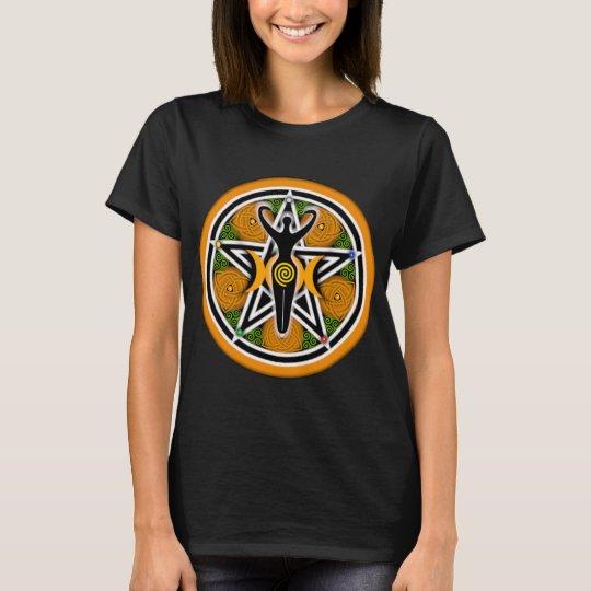 Gold GoddessPentacle T-Shirt