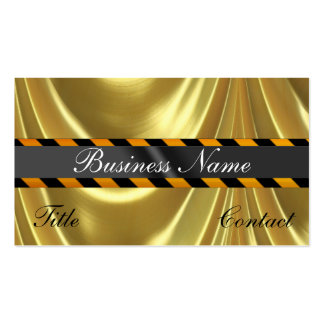 Gold Golden Business Cards With Stripes