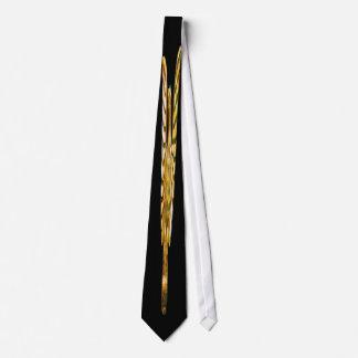 Gold, Golden Eagle on Black Background Tie