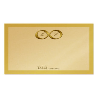 Gold Golden Infinity Hand Clasp Wedding Place Card