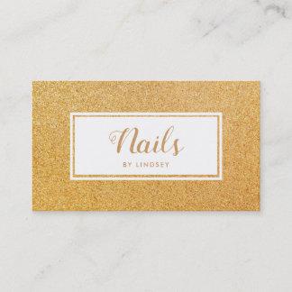 Gold Golden Sparkle Glitter Nail Artist Business Card