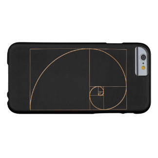 Gold Golden Spiral Barely There iPhone 6 Case
