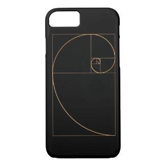 Gold Golden Spiral iPhone 7 Case
