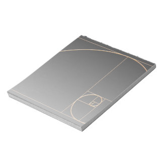 Gold Golden Spiral Notepad