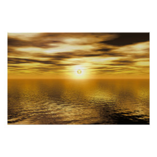 Gold Golden Sunset Art Canvas Or Print