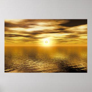 Gold Golden Sunset Art Canvas Or Print