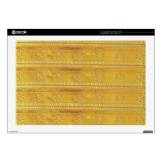 Gold Golden Template Add TEXT Greeting Wisdom Word Laptop Skin