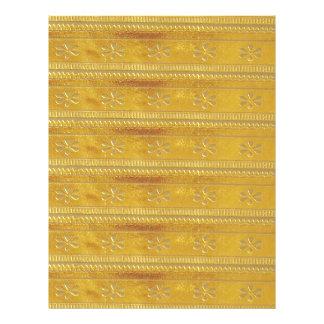 Gold Golden Template Add TEXT Greeting Wisdom Word Letterhead