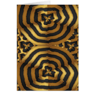 Gold Golden wave abstract art on shirts n POD gift Card