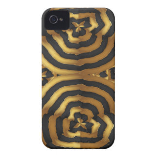 Gold Golden wave abstract art on shirts n POD gift iPhone 4 Case
