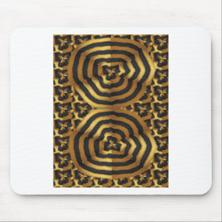 Gold Golden wave abstract art on shirts n POD gift Mouse Pad