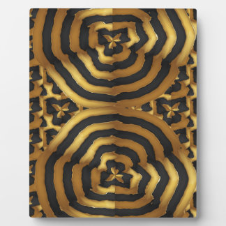 Gold Golden wave abstract art on shirts n POD gift Plaque