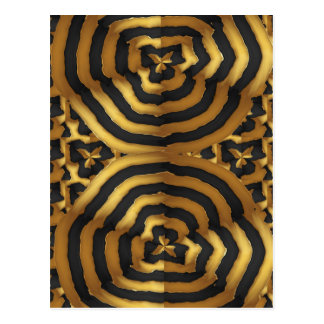 Gold Golden wave abstract art on shirts n POD gift Postcard