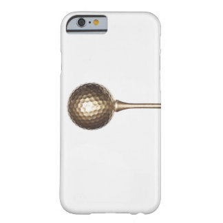 Gold golf ball and tee iPhone 6 case