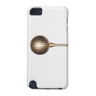 Gold golf ball and tee iPod touch 5G case