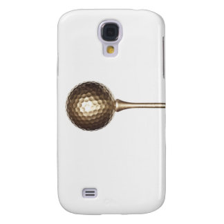 Gold golf ball and tee samsung s4 case