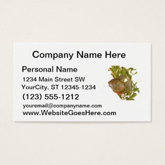 Gold Gourami Freshwater Fish With Green Business Card